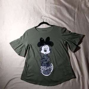 Disney Minnie Mouse t-shirt with ruffles at sleeve
